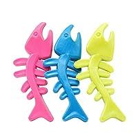 RUIMA カラフルな魚の骨犬のおもちゃのためにペットは犬ゴム歯科歯のためにおもちゃを噛ん形は骨のためにペットを噛ん おもちゃ (Color : Random color, Size : 125X50MM)