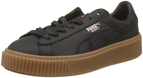 Puma Damen Basket Platform Euphoria Gum Sneaker, Schwarz (Puma Black-Rose Gold), 38.5 EU
