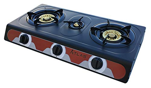 Tecatel – Cocina de gas uso exterior serie ATLAS GE03 NEGRA