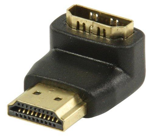 Valueline VGVP34901B - Adaptador de video HDMI acodado 90º (Oro-Negro)