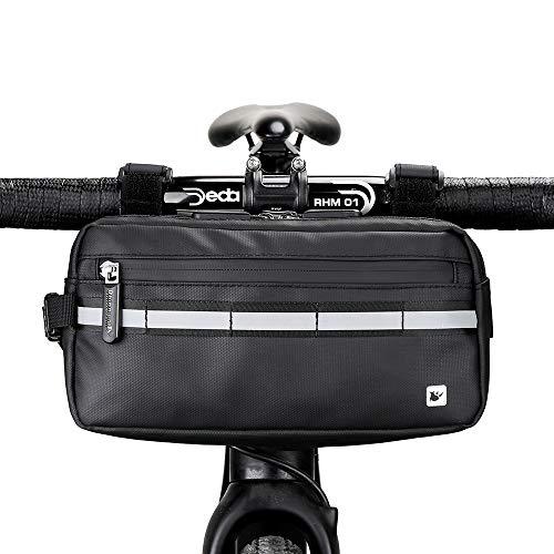 Rhinowalk Bike Bag,Exercise Bike Handlebar Bag Waterproof Multifunctional Messenger Bag Frame Front Accessories