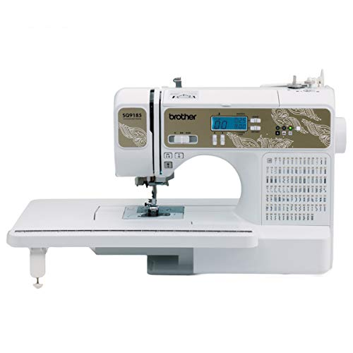 Brother RSQ9185 Sewing and Quilting Machine (Refurbished), 185 Built-in Stitches, LCD Display, Wide Table, 11 Included Feet