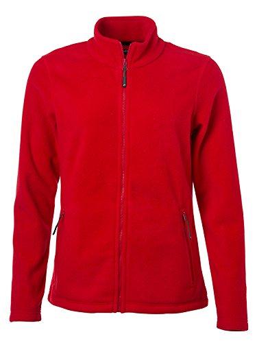 James & Nicholson Damen Fleece Jacke, Rot (Red), 42 (Herstellergröße: XXL)