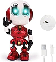 Rechargeable Talking Robots for Kids, Mini Robot Toys That Repeats What You Say and Help Toddlers Talking, Toys for Age 3+ Boys and Girls Gift (Red)