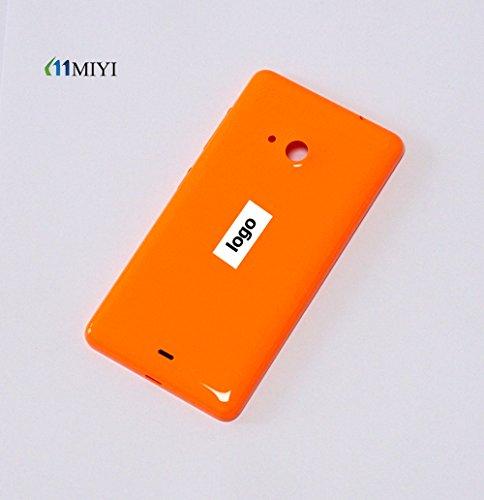 MIYI Nuovo Original copribatteria (batteria vano coperchio, batteria copertura, retro, Back-Cover) per Nokia Microsoft Lumia 535 - Arancio