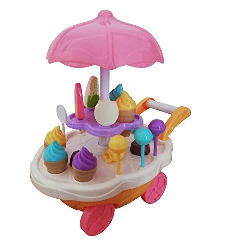 Spielzeug Süßigkeiten-Servierwagen, A186/00, 30 TLG. Set mit Sound und Lichteffekten für Kinder, mit viel Zubehör, Geschenk-Idee für Jungen Mädchen Weihnachten zum Geburtstag, Geburtstags-Geschenk