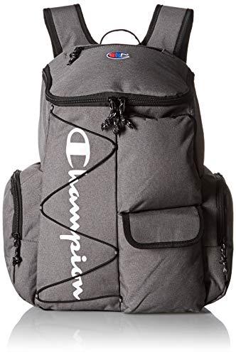 Champion Unisex-Adult's Utility Backpack, Heather Grey, One Size