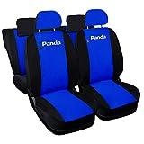 Lupex Shop Panda.014.Br-N-50 Fundas Coche Panda con Asientos Traseros divididos 50e50, Azul Royal/Negro