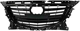 Partomotive For 14-16 Mazda 3 & Mazda3 Sport (w/Collision Warning) Front Grille Assembly Black