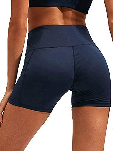 None Wuluwala Short de yoga taille haute pour femme M bleu marine