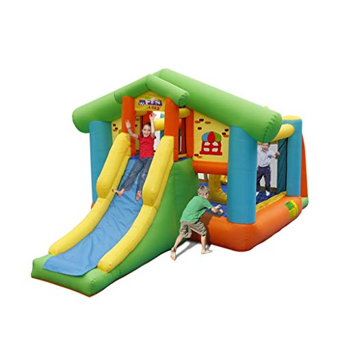 Buy Discount Inflatable Castle Children's Trampoline Cartoon Slide Bounce Room Outdoor Play House La...