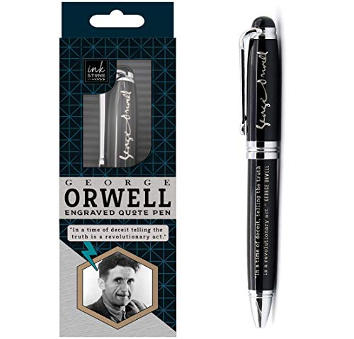 George Orwell Engraved Quote Pen - In a time of deceit, telling the truth is a revolutionary act. -...