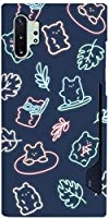 かわいい Bear Doll Jelly Neon Navy 熊 人形 ゼリー ネオン ネイビー キャラクター 柄 アート デザイン iPhone ケース と Galaxy ケース 対応 ポリカーボネート ハード サイド スライド カード 収納 スマホケース。 BC-BTS-27-05-05-001 (iPhone 11(6.1インチ)) [並行輸入品]