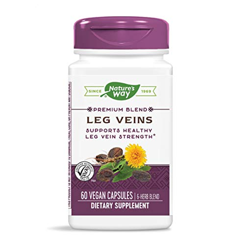 Nature's Way Leg Veins Support Blend; with Tru-OPCSTM; Vegetarian; 60 Vegetarian Capsules