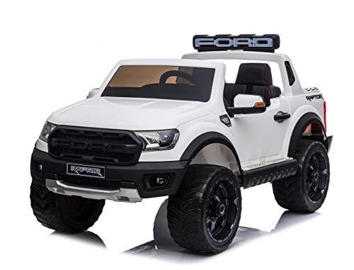 TOYSCAR electronic way to drive Auto Elettrica per Bambini 2 posti Ranger Raptor 12 Volt Ruote in Gomma Sedile in Pelle Porte apribili e Telecomando 2.4 GHz Soft Start