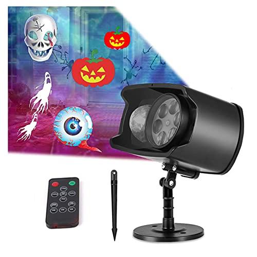 Navidad Proyector Luces para Exterior Interior Halloween Holograma Proyector con Mando A...