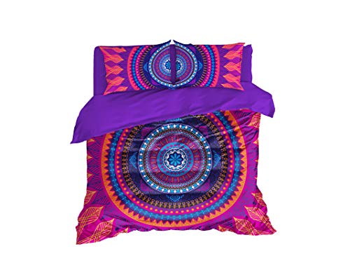 Cool Bedding Colorful Mandala by Boemia Copripiumino Set 3o 4pz, Ethno Mandala Bedding, Disegnati a Mano Mandala doudou Laptop, Colorful, Full Set 83'x87' $186