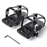 Toe Cages for Peloton Bike, Miden Compatible with Peloton Bike+ Pedal Toe Clips Cage- Indoor Cycling Exercise Bike Adjustable Adapter Pedal for Look Delta Pedals to Toe Clip Straps– Ride with Sneakers