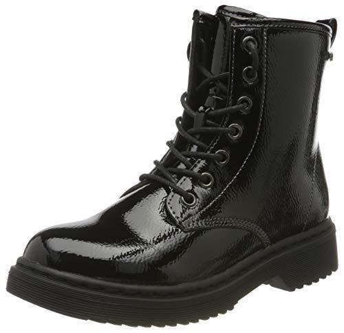 Indigo Mädchen 452 087 Biker Boots, Schwarz (Black 006), 31 EU