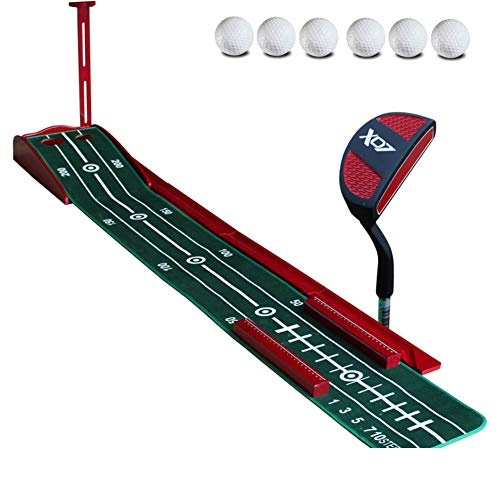 Portable Golf Putting Green with Ball Return System,Professional Indoor Putting Mat with Putter,Foldable Golf Training Mat B 30x300cm(12x118inch)