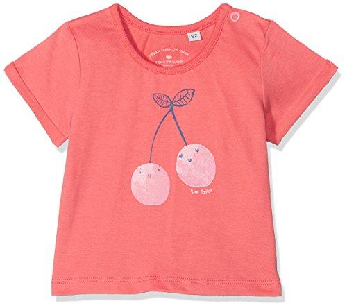 TOM TAILOR Kids TOM TAILOR Kids Baby-Mädchen 1/2 T-Shirt, Pink (Cayenne|Red 2920), 62
