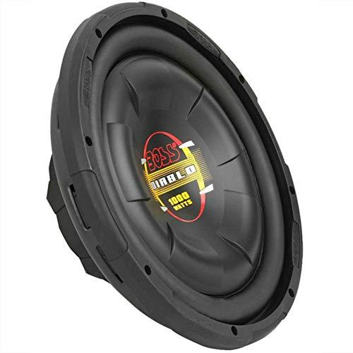 BOSS Audio D12F Negro Sub WOOFER SUBWOOFER Ultra Slim 30,00 CM 12' 300 MM DE 500 Watt RMS Y 1000 Watt MAX Individual Bobina DE 4 Ohm Coche con Reducida Profundidad' 9,80 CM