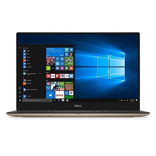 2017 Stylish Rose Gold Dell XPS 9360 13.3' Full HD InfinityEdge Touchscreen Ultimate Ultraportable Laptop, Intel Core i5-7200U Dual-Core, 8GB RAM, 128GB SSD, WIFI, Bluetooth, Webcam, Windows 10