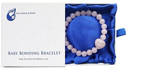 Rose Quartz Baby Bonding Bracelet | Nursing Bracelet for Breastfeeding | Unique Baby Shower Gift