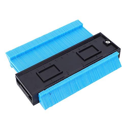 Medidor de contorno de cerámica, duplicador de calibre de contorno azul, 145 x 100 x 20 mm, corte de azulejos de plástico de 120 mm/5 pulgadas para instalación de suelo de baldosas