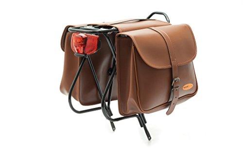 Cicli Bonin Eco Leather Looking Saddle Taschen, braun, 29 x 10 x 25 cm