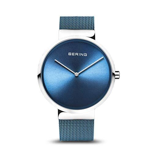 BERING Unisex-Armbanduhr Analog Quarz Uhr mit Edelstahl Armband 14531-308