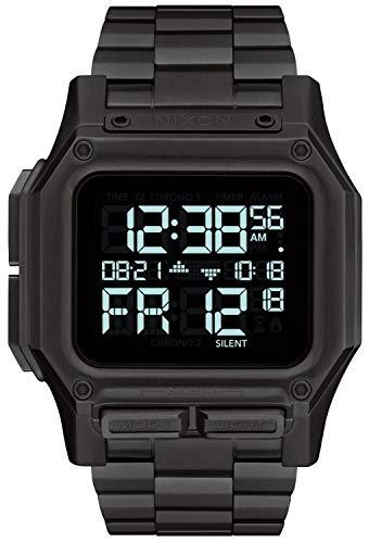 Nixon Regulus Reloj para Hombre Digital de Cuarzo japonés con Brazalete de Acero Inoxidable A1268001