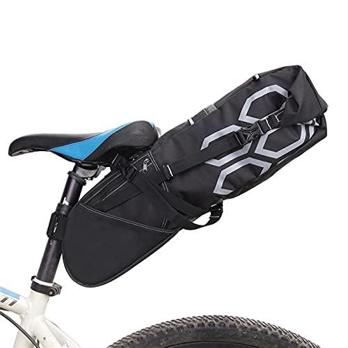 SAHFV Bolsa de Montar de Bicicleta Impermeable, MTB Bicicleta de sillín para Bicicletas para Ciclismo Bicicleta Asiento Trasero Bolsa Bolsa Bicicleta Long Laca sillín Bolsas 12l