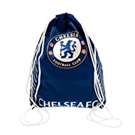 Drawstring gym Chelsea FC branding Large main compartment School or gym bag 40cm x 33cm approx
