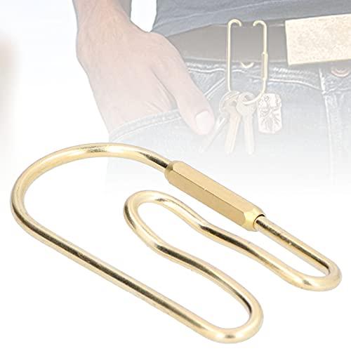 Zwinner Llavero, Llavero de latón Simple Exquisito fácil de Llevar para Llaves para Varios Accesorios