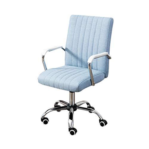 Bürostuhl Konferenzstuhl Personalstuhl Rezeptionsstuhl Haushaltsstudienstuhl Computerstuhl GMING (Color : Blue)