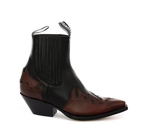 Grinders Arizonas Niedrig Unisex Leder Cuban Heel Cowboy Stiefel Schwarz 40