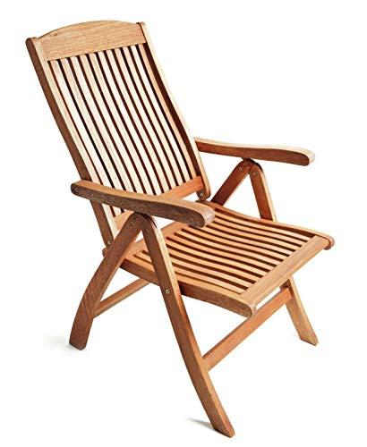 GXK Gartenmöbel Stuhl Gartensessel Klappsessel Klappstuhl Holzsessel, Holz