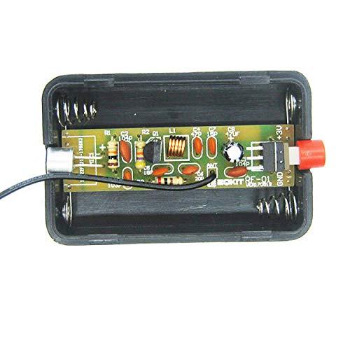 KASILU Dlb0109 RF-01 Piezas de micrófono de radiocomunicaciones de DIY 5MA Kit de producción de transmisor de 70MHz FM con Antena Alto Rendimiento