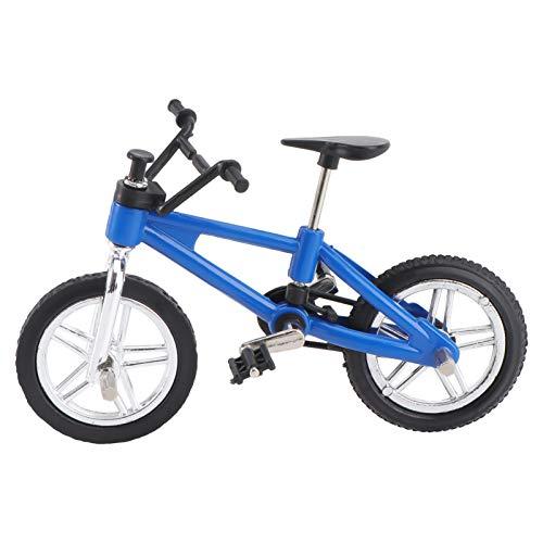 TOYANDONA Mini Bicicletas de Dedo Deportes Accesorios para Los Dedos Vehículos de Juguete de Carreras Modelos de Decoración Manualidades para El Hogar (Azul)