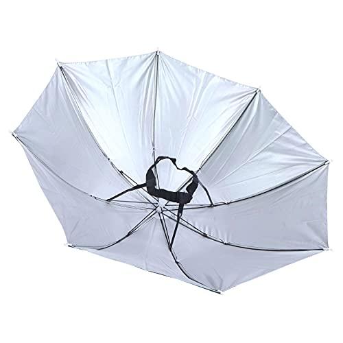 Gaeirt Sombrero de sombrilla, sombrilla de Barco fácil de Usar.Utilice ampliamente Telas de poliéster para días lluviosos.(Camouflage)