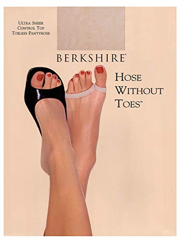 Berkshire Ultra Sheer Toeless Control Top Pantyhose - Hose Without Toes