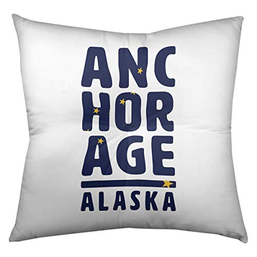 ArtVerse Katelyn Smith 14 x 14 Poly Twill Double Sided Print with Concealed Zipper /& Insert Alaska Love Pillow