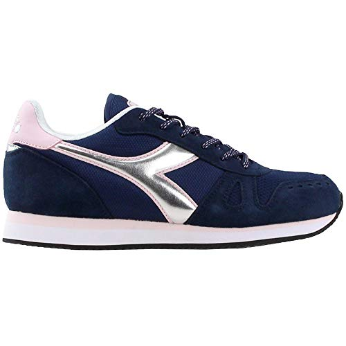 Diadora Womens Simple Run Lace Up Sneakers Shoes Casual - Blue - Size 6.5 B