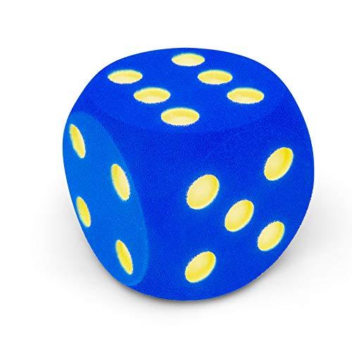 VOLLEY Dé, mousse, 16x16x16 cm, bleu