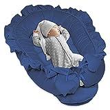 reducteur de lit Bebe 90x50 - cale Bebe pour lit Cocon Bebe Matelas Cocoon Bleu Velours