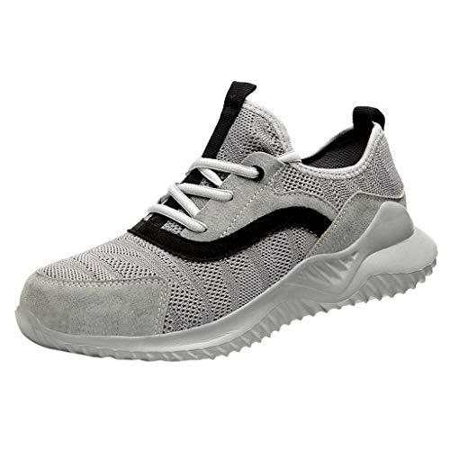 ELECTRI Chaussure de Securité Homme Femme Legere, Embout en Acier Chaussure Respirant Basket Securité qui Résistent aux Perforations Chaussure de Travail Bottes de Sécurité