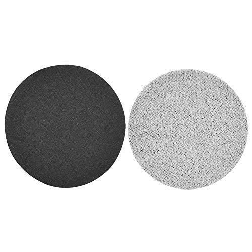 50Pcs Discos de Gancho y Bucle Lijadora de 75 mm Lijado de Disco Papel de Pulido Almohadillas de Lijado de Pulido de 3 Pulgadas Almohadillas de Molienda(400#)