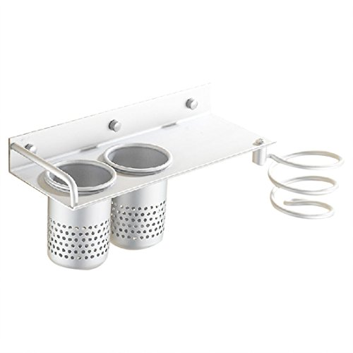 seche sechoir Titulaire - SODIAL(R)Support Mural seche sechoir cheveux Porte titulaire rack stand mural spirale Argent