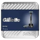 Gillette Fusion5 ProGlide Coffret Cadeau Rasoir + 1 Recharge de Lame + 1 Gel à Raser, Idée Cadeau...